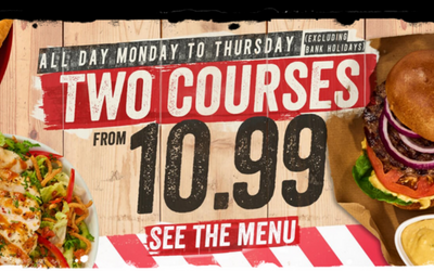 The latest offers from TGI Friday