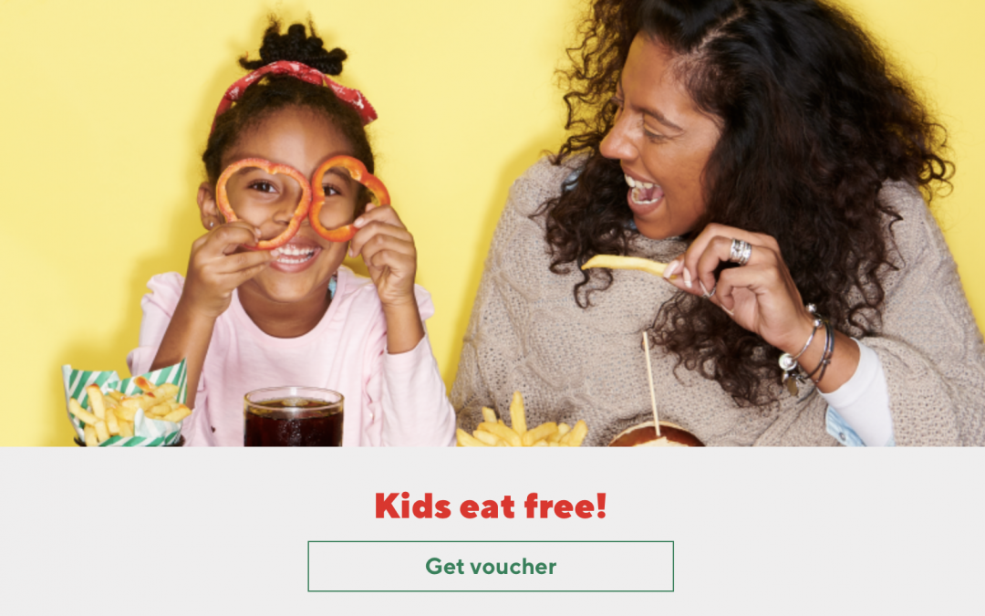 Kids eat free at Frankie and Benny's