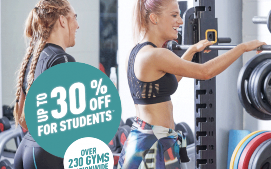 Up to 30% off for students at Pure Gym